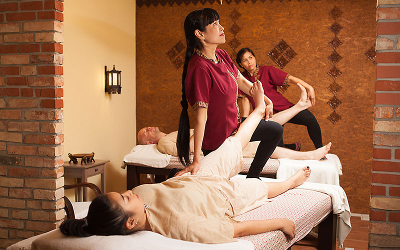 traditionelle Thaimassage als Paarmassage